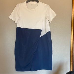 COS | short sleeve dress with overlap detail